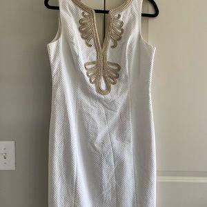 Lily Pulitzer white shift dress size 8